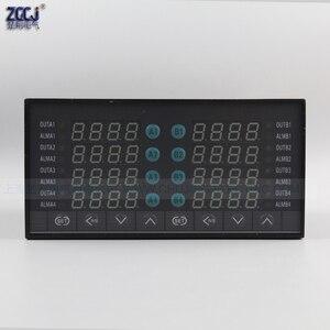 Image 2 - דיגיטלי תרמוסטט 8 דרכים SSR פלט טמפרטורת בקר עם 8 דרכים DC מתח פלט התראה עם RS485 תקשורת