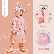Cartoon Unicorn Waterproof Raincoat For Children Kids Baby Rain Coat Poncho Boys Girls Primary School Students Siamese Rain Suit