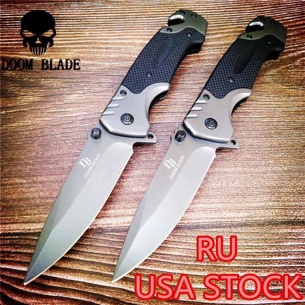 230mm 5CR15MOV Blade Quick Open Knives Folding Knife High Quality Pocket Knives Tactical Survival Tool Folder Blade G10 Handle(China)