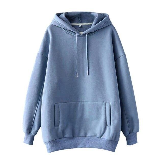 Купить повседневные однотонные теплые пуловеры толстовки свитшоты женская картинки цена