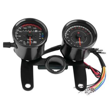 all new universal motorcycle digital motorcycle speedometer retro lcd odometer cafe racer tachometer indicator scooter atv meter For Honda Cafe Racer Motorcycle Odometer Speedmeter Tachometer LED Speed Meter Motorbike Odometer Speedometer Tachometer