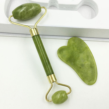 Jade Roller Massager for Face Roller Gua Sha Jade Stone Face Massager Beauty Thin Face Lift Anti Wrinkle Facial Skin Care Tools