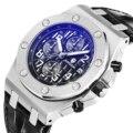Switzerland Royal Rolexable Japan Miyota кварц часы три глаза многофункциональный синхронизации кожа водонепроницаемый календарь montre homme