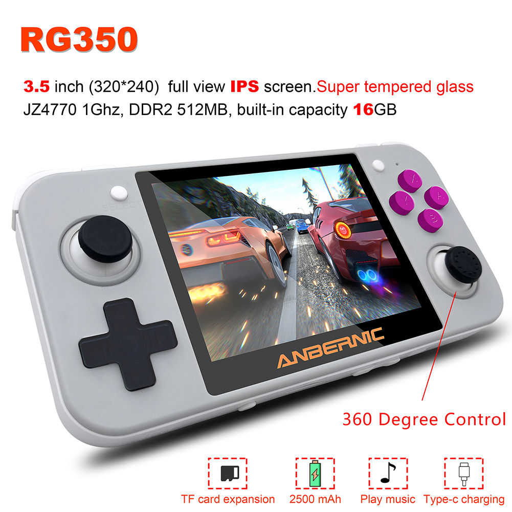 RG350 Retro Game Handheld Video Mini Gaming Console 64 Bit 3.5 inch IPS screen 16G/32G Game Player Support PS1 Games
