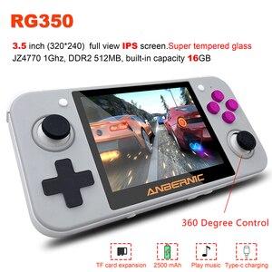 RG350 gra Retro ręczny wideo Mini konsola do gier 64 Bit 3.5 cal ekran IPS 16G/32G odtwarzacz gier wsparcie PS1 gry