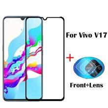 4IN1 appareil photo + écran verre trempé pour Vivo v17 protecteur décran verre dobjectif sur Vivo v17 verre de protection