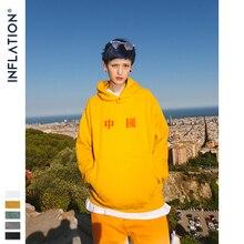 인플레이션 디자인 대형 남성 까마귀 중국 큰 로고 후드 티 남성용 멀티 컬러 루즈 피트 코튼 가을 겨울 까마귀 9680 w
