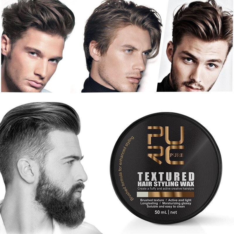 Твердый воск для укладки волос PURC для мужчин, воск для укладки волос, матовый готовый крем для лепки, воск для волос типа s стерео TSLM2