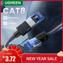 UGREEN Ethernet Kabel CAT8 40Gbps 2000MHz KATZE 8 Networking Nylon Geflochtene Internet Lan Kabel für Laptops PS 4 router RJ45 Kabel
