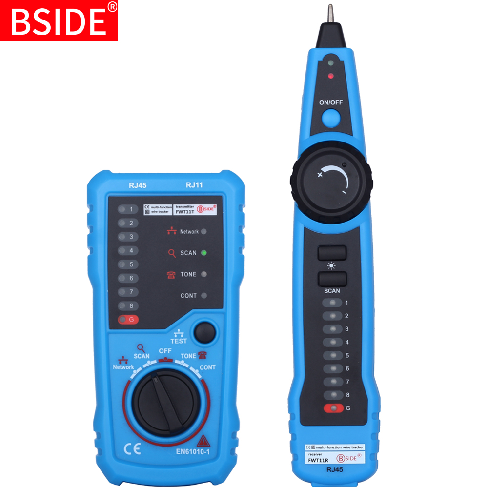 High Quality Network Cable Tester Detector RJ11 RJ45 Cat5 Cat6 Telephone Wire Tracker Tracer Toner Ethernet LAN Line Finder