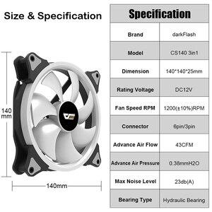 Image 4 - Aigo darkFlash AURA SYNC 3P 5V Fan PC Cooling 140mm LED fans PC Computer Cooling Cooler Silent Case Fan controller