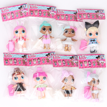 8PCS LOL Surprise Dolls New Styles with Label Bag High Quality Action Figure Model Toys for Children Sets 8~9CM