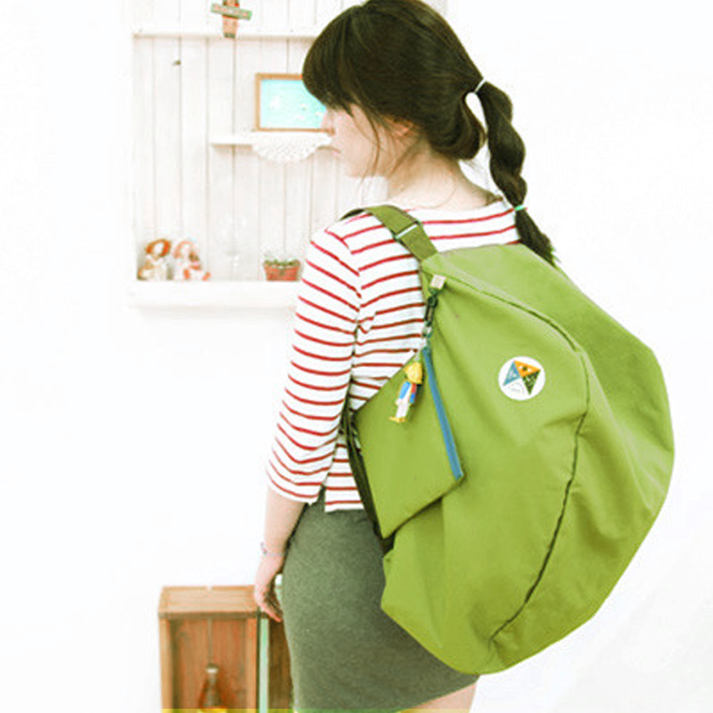 New Fashion Unisex Foldable Backpacks Casual Zipper Soild Portable Women Ultralight Package Fold Travel Bags