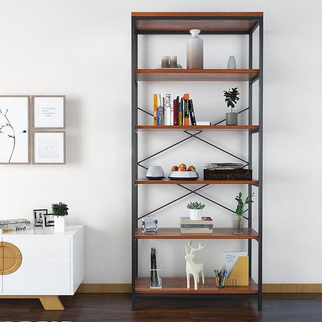 5-tier Wooden Bookcase Bookshelf Storage Organizer Display Home Decor Rack  Furniture Boekenkast 2