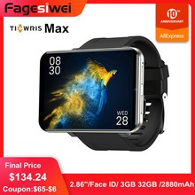 цена на ​Ticwris Max 4G Watch Phone 2.86 inch Face ID 2880mAh 3GB RAM 32GB ROM IP67 Waterproof Smart Watch 8.0MP for iOS Android