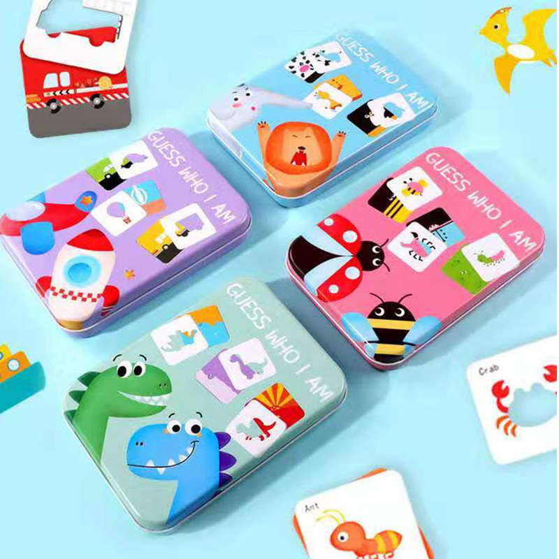 Baby Kid Montessori Wooden Toys Pairing Puzzle Children's Early Teaching Cognitive Animal Traffic Pairing Educational Toys Gifts