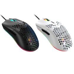 M6 RGB podświetlana przewodowa mysz do gier 7 przycisków 12000DPI Hollow-out mysz do gier lekkie myszy na komputer dla graczy