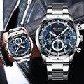 Herren Uhren CURREN Luxus Marke Business Quarzuhr Männer Wasserdichte Chronograph Datum Männlich Uhr Gold Blau Relogio Masculino