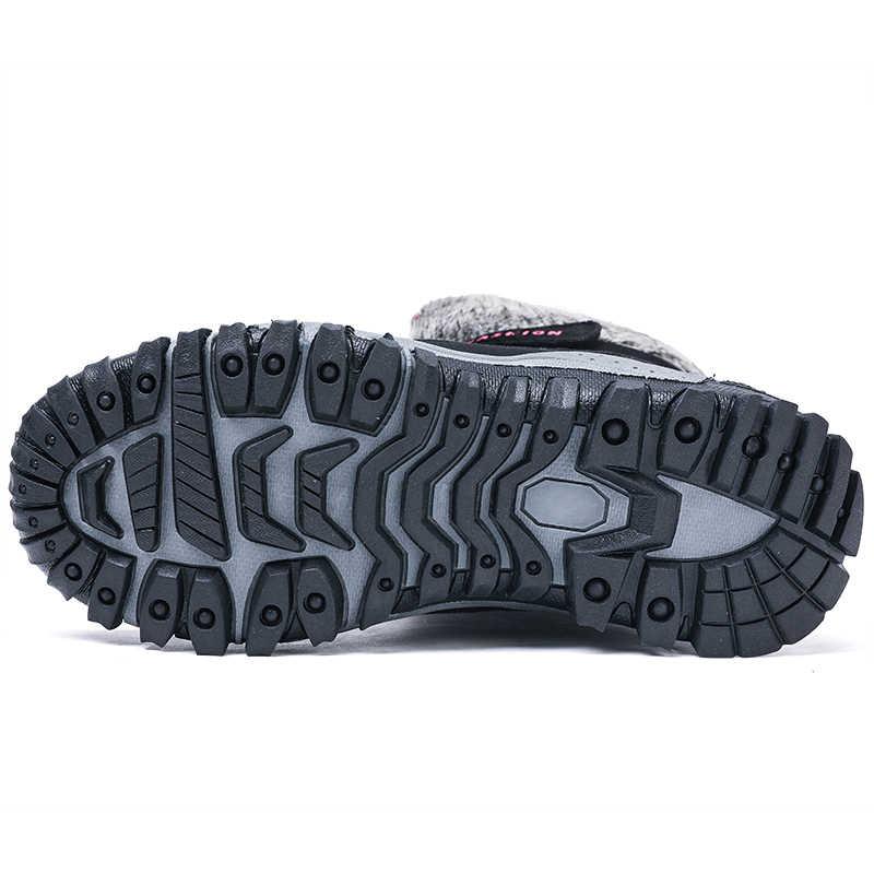 Valstone ผู้หญิงฤดูหนาวรองเท้าบูท Snow boots รองเท้าอุ่นสำหรับเย็นสภาพอากาศกลางแจ้ง plush Mid-calf รองเท้า Anti-skid Lady รองเท้าผ้าใบฤดูหนาวสีดำ