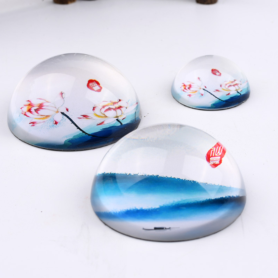 creative Chinese paperweight for painting calligraphy glass paper weight Art drawing supplies Art set
