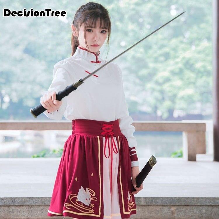 2020 Girls Chinese Folk Dance Fairies Tang Suit Hanfu Chiffon Costume Cos Dresses Chinese Dance Costumes