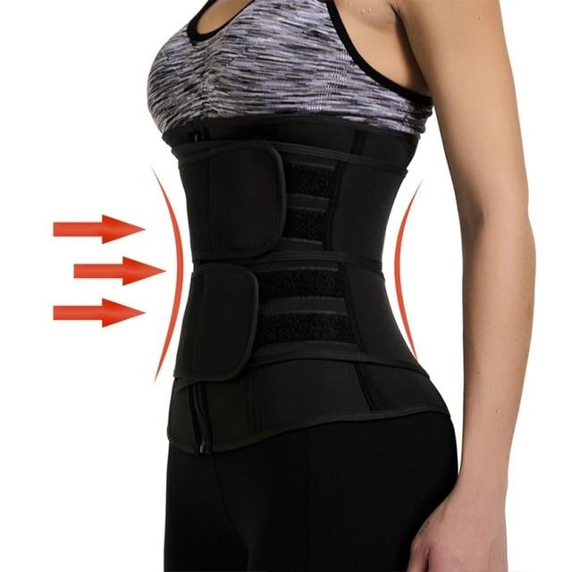 Women Weight Loss Lumbar Shaper Workout Trimmer Belt Steel Boned Waist Corset Trainer Sauna Sweat Sport Girdle Cintas Modeladora 3