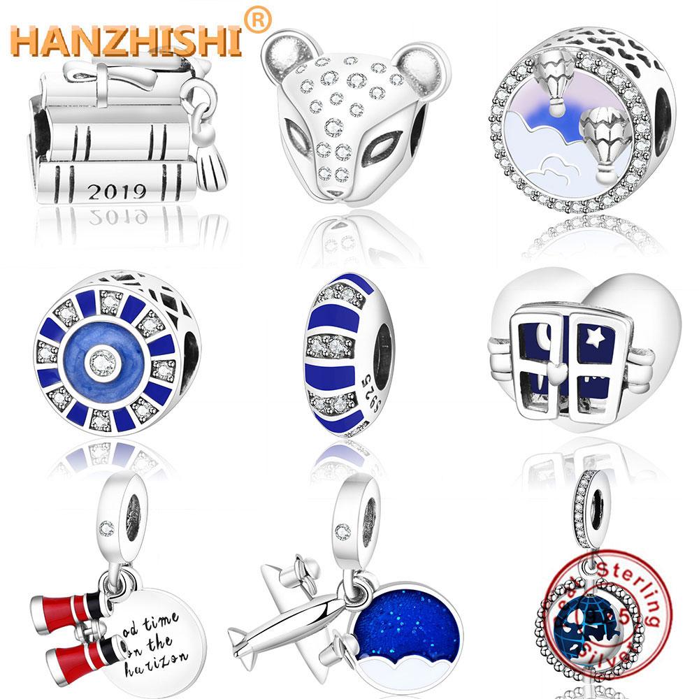 Fit Original Pandora Charm Bracelet 925 sterling Silver GRADUATION CAP, BOOK & SCROLL CHARM Spinning Globe Mosaic Bead Jewelry(China)