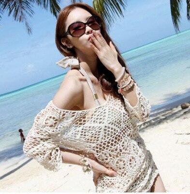 Beach Skirt Seaside Holiday Bikini Outdoor Sha Tan Yi Bohemian Half-sleeve Shirt Tulle Skirt S32