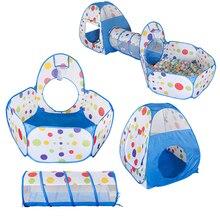 Große Kinder Zelt Haus Baby Pool Rohr Tipi Spielen Zelt Kinder Ozean Ball Pool Pit Faltbare Baby Pipeline Krabbeln Spiel haus