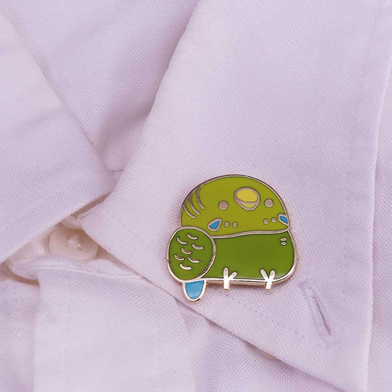 Superน่ารักFat Bird Lapel Pin Kawaiiเสื้อแจ็คเก็ตตกแต่งกระเป๋า