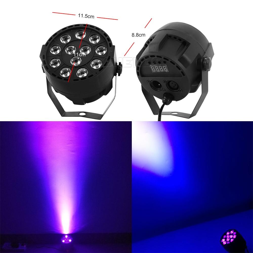 1PCS Led Par Light 54x3W DJ Par Ultraviolet Wash Disco Light 12x3W UV Mini Led Plastic Party Event Stage Effect Dance Home 2