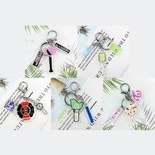 1 шт. KPOP Blackpink брелок EXO Got7 Nct дважды светильник Stick брелок акриловые аксессуары кулон ювелирный фанат питания подарки