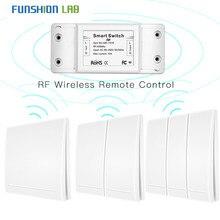 Transmissor esperto sem fio do painel de parede do controlador do botão do receptor do controle remoto do rf do interruptor 433 mhz, 2 maneira/3 maneira multi controle