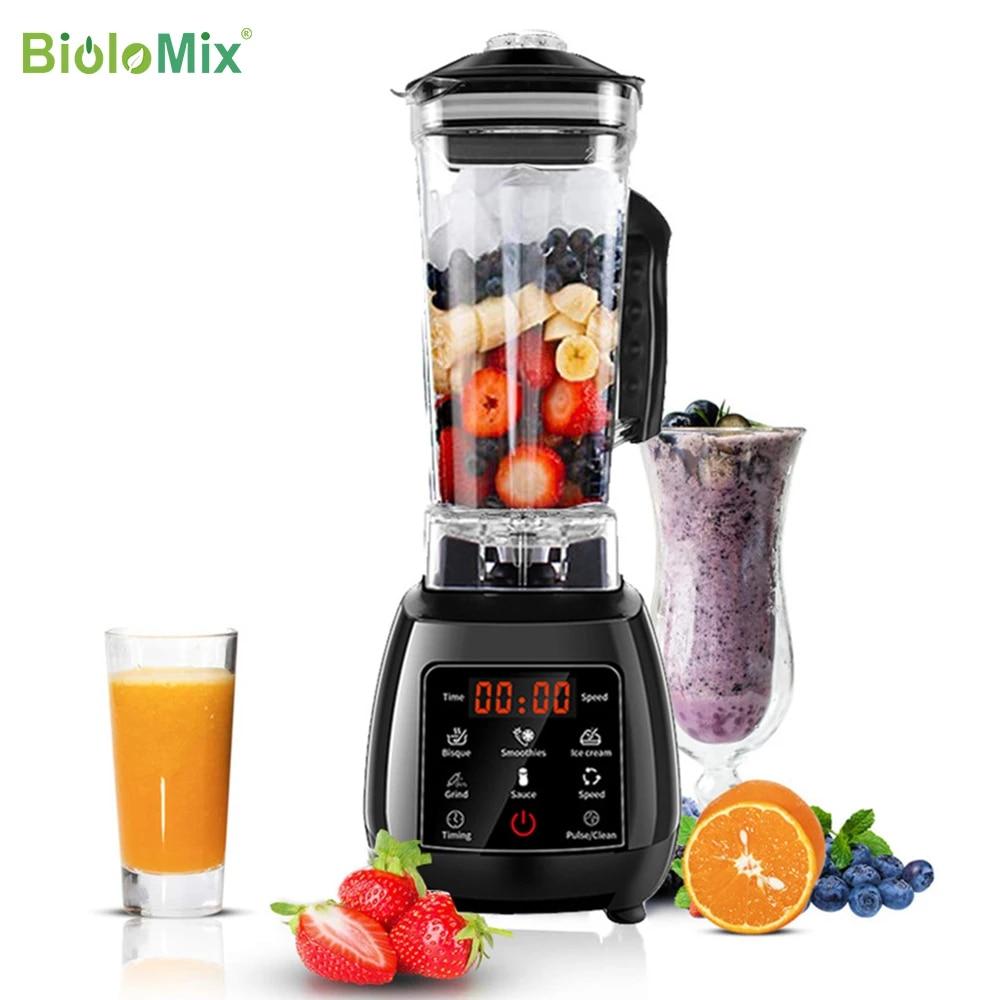 Цифровой 3HP BPA FREE 2L автоматический тачпад профессиональный блендер, миксер, соковыжималка высокой мощности, Кухонный комбайн, лед, смузи, фрукты