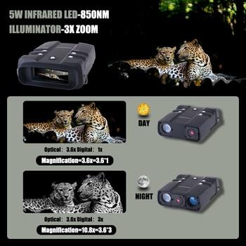 WILDGAMEPLUS WG500B 1080P HD Night Vision Binoculars 3.6-10.8 Digital Zoom Infrared Hunting Night Vision Binocular IR Telescope 3