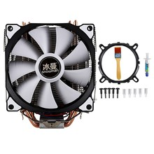 SNOWMAN CPU Cooling System Direct Contact CPU Cooler Master Heatpipes Freeze Tower CPU Cooling Dual Fan with PWM 2 Fans(China)