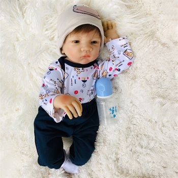 Reborn Baby Dolls 20 Inches Soft Silicone Baby Doll For Reborn Toddler Baby Doll Reborn Newborn Dolls As Child Gift and Playmate