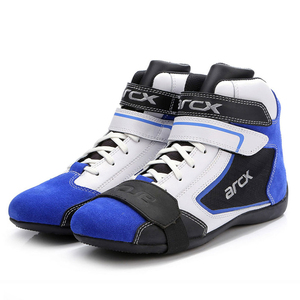Image 3 - ARCX Motorcycle Boots Men Motorcycle Shoes Moto Riding Boots Breathable Four Seasons Motorbike Ankle Shoes Blue Motocross Boot #