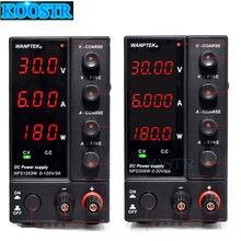 Fuente de alimentación CC ajustable NPS3010W, 306W, 605W, 1203W, miniconmutación regulada, pantalla de alimentación de 30V, 60V, 120V, 6A, 10A, 0,1 V, 0.01A, 0,01 W