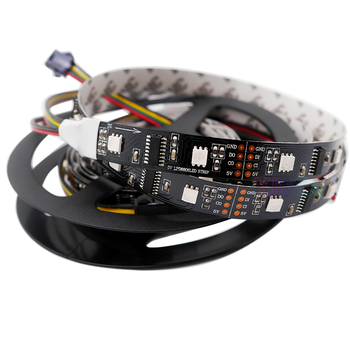 цена на DC5V 1m/5m LPD8806 5050 RGB 32/48/52/60leds/m (1 IC - 2 Chip) LED Pixel Digital addressable LED Strip Light DC5V