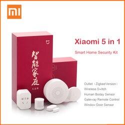 Xiaomi mijia Aqara Smart Home Kits Gateway Door Window Sensor Human Sensor Cube Wireless Switch Humidity Zigbee Socket