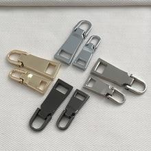 Detachable Pullers Sliders-Head Sewing-Accessories Repair-Kits Zipper Metal 3 for DIY