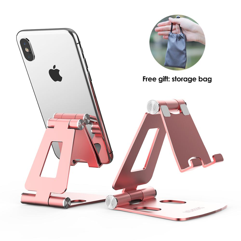 LINGCHEN Phone Holder For IPhone Pro 11 78 X XS Max Foldable Mobile Phone Holder Stand Universal Stand Aluminum Alloy For Xiaomi