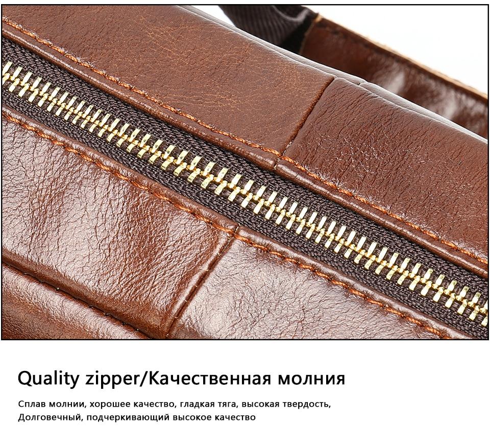 Hc9a4feda3fdd447e8c1375510dd9914d0 MVA men's briefcase/genuine Leather messenger bag men leather/business laptop office bags for men briefcases men's bags 8572