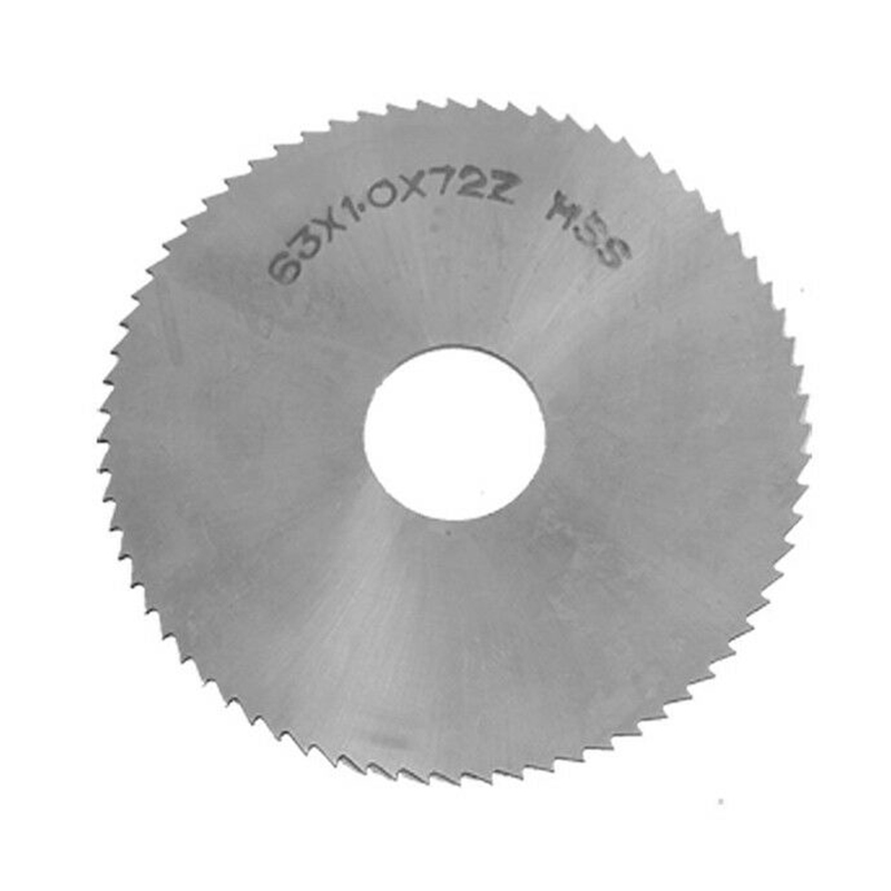 1pcs 2.5inches Diameter 72Teeth HSS Steel Round Slitting Saw Cutter P1C1 Silver HSS For Cutting-off, Slitting And Slotting Steel