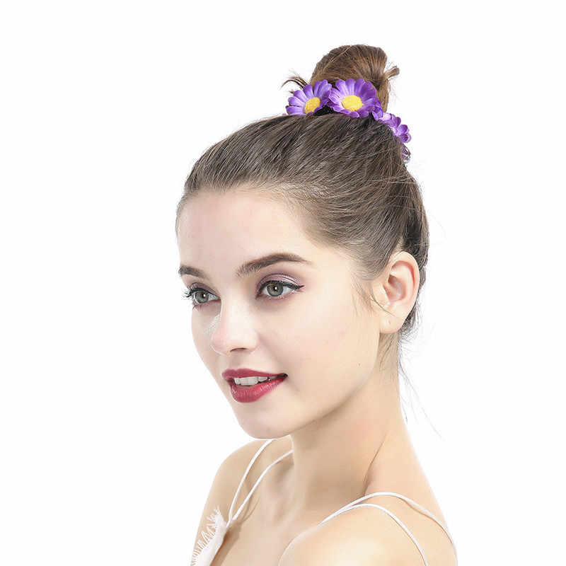 Girasole Colletion Bella Donna Forcelle Elegante Margherita Floreale Scrunchies Elastico Hairbands per capelli accessori mujer FCT015