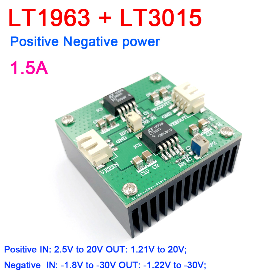 Positive and Negative Power Supply,Ultra-low Noise 15uV Low Consumption and High PSRR Precision AD DA OPA Power Supply