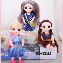 Кукла beauty girl bjd 16 см 13 подвижных шарнирных кукол длинные