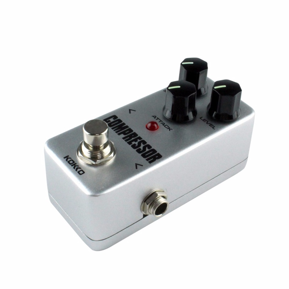 Mini Compressor Pedal Portable Guitar Effect Pedal 9V DC 300mA Musical Instruments Effects Anti-skid Aluminum alloy FCP2 KOKKO