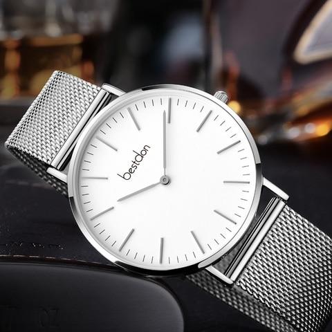Bestdon Couple Watches Pair Men And Women Watches Minimalist Unisex Fashion 2019 Luxury Brand Quartz Watch Waterproof Relogio Lahore